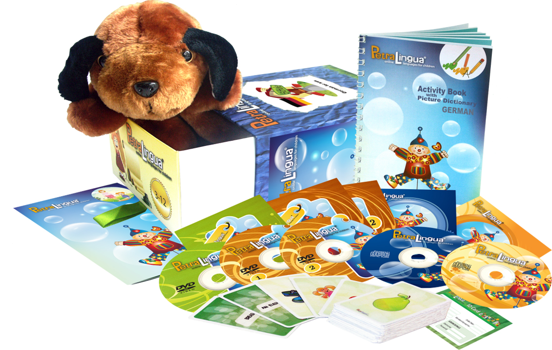 German for Kids PetraLingua® German Learning Set with DVDs, CDs, Books,  Songs and Games