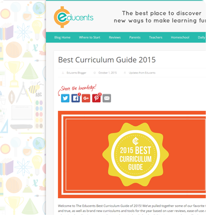 Educents Best Curriculum Guide 2015, October 1, 2015